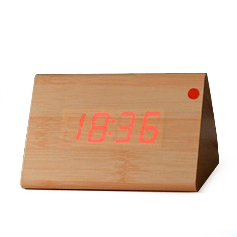 Competent Upgrade Led Alarm Clocks,despertador Temperature Sounds Control Led Display Desktop Digital Table Clocks Clocks Home & Garden