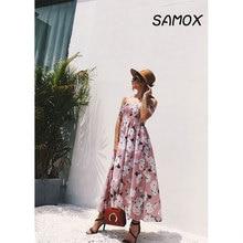 JSMY 2019 New Summer Fashion Women Off-the-shoulder Split Printing Chiffon Beach Dress printing off the shoulder flounce dress