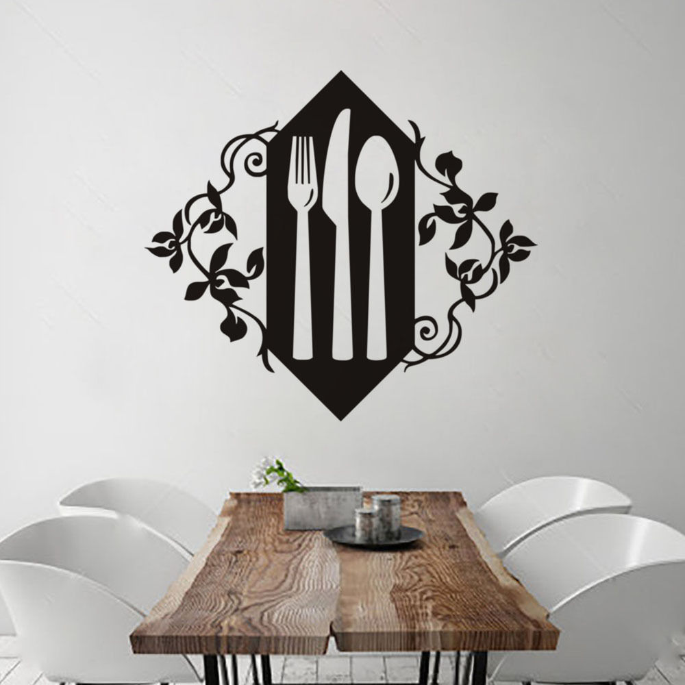 Compare prices on western decal online shoppingbuy low price kitchen tableware vinyl wall stickers folk knife and spoon art wallpaper decor western restaurant coffee shop amipublicfo Images