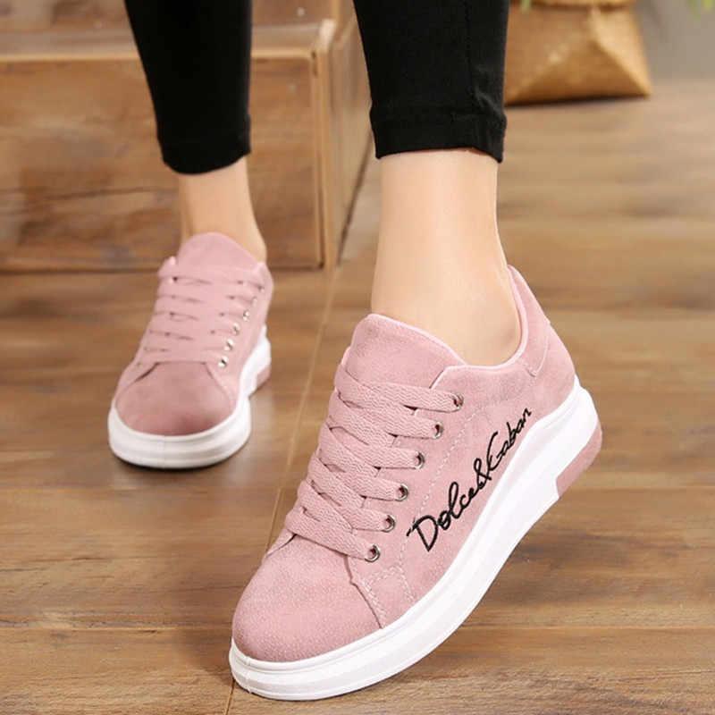 Casual Scarpe Primavera Nuovo Progettista Cunei Della Piattaforma Rosa scarpe Da Tennis Delle Donne Vulcanize Scarpe Tenis Feminino Casual Femminile Scarpe Da Donna
