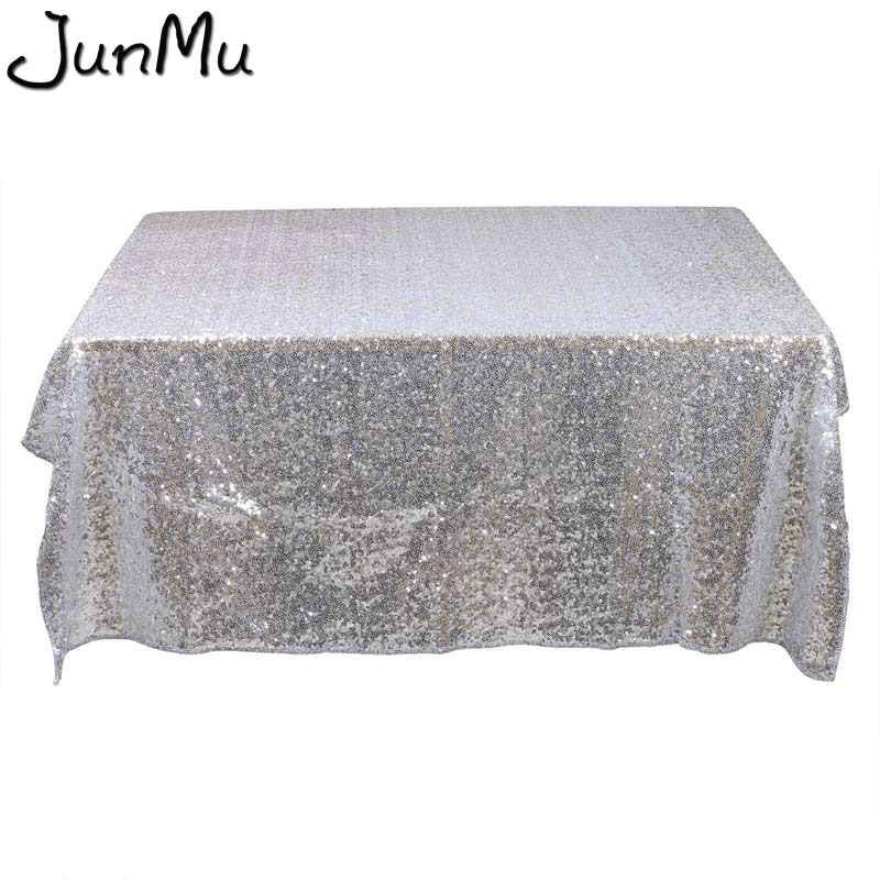 1pc 40 X60 Gold Silver Champagne Sparkly Sequin Rectangle Table Cover Tablecloth For Wedding Party Event Decor By Express In Tablecloths From Home