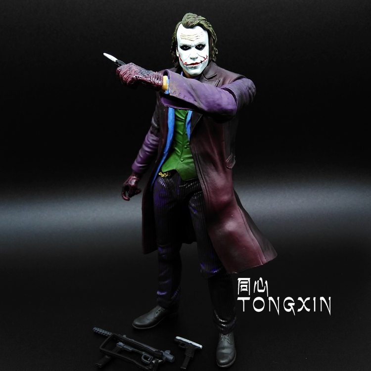 где купить SANITGI Batman Suicide Squad Dark Knight Rises Joker Doll DC Super Heroes PVC 17CM Action Figure Collection Model Kids Toys по лучшей цене