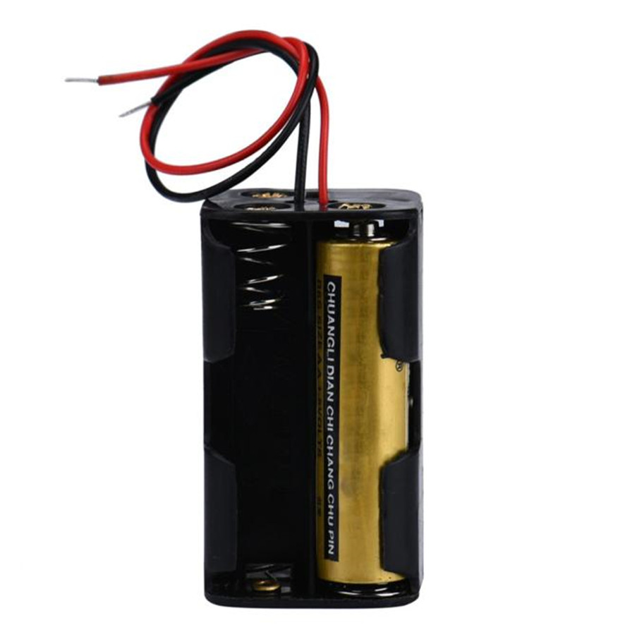 Best Price 2 slot 4 x AA Battery Back To Back Holder Case