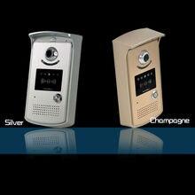 Mejor sistema de seguridad para el hogar timbre inalámbrico 1 a 2 puertas campana de intercomunicación video del teléfono IP cámara del ojo de puerta digital lcd mirilla