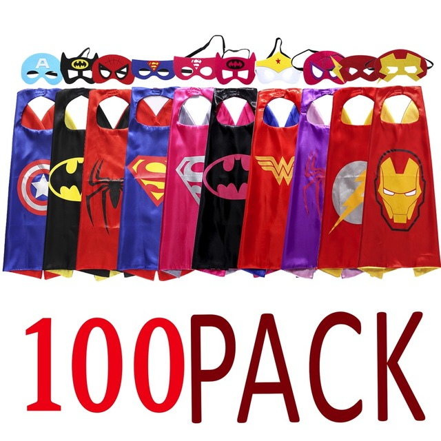 Superhero Theme Party Supplies Dressup Costumes Role Play Capes And
