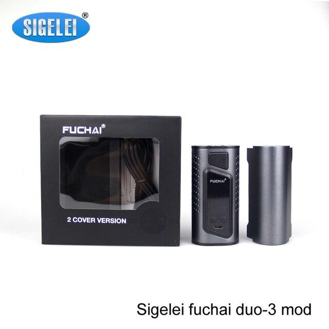 Оригинал sigelei fuchai Duo 3 mod 175 Вт fuchai Duo-3 TC поле mod OLED Дисплей Поддержка по 3*18650 VAPE мод батареи VS wismec RX2/3