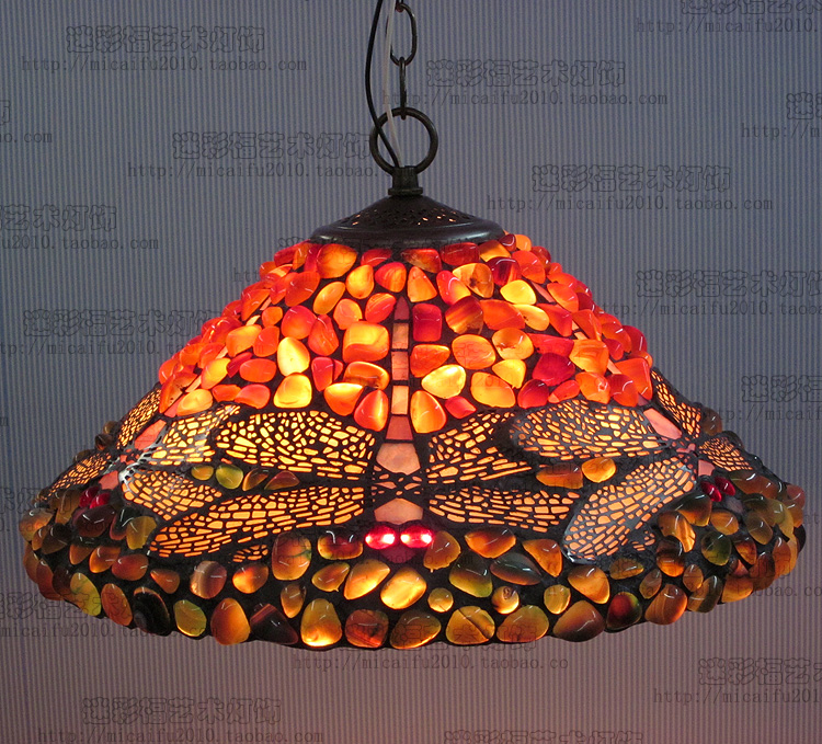 16inch antique agate jade Dragonfly Stained Glass Lampshade Tiffany pendant Lamp Country Style Bedside Lamp E27 110-240V16inch antique agate jade Dragonfly Stained Glass Lampshade Tiffany pendant Lamp Country Style Bedside Lamp E27 110-240V