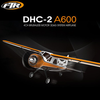 XK Glider RC Airplane DHC-2 A600 5CH 2.4G Brushless Motor 3D6G RC Airplane 6 Axis Toys for Children Remote Control Toys Glider
