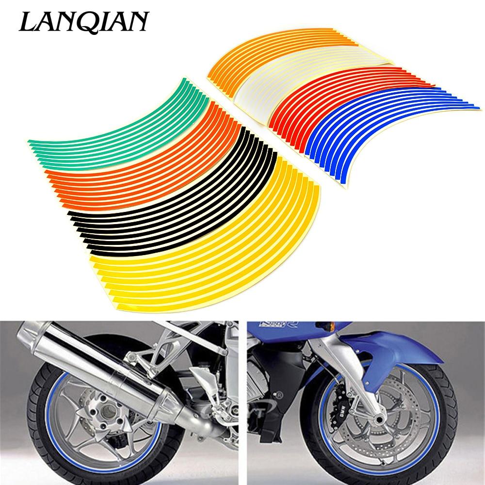 17inch/18inch Wheel Strips Motorcycle Reflective Wheel Sticker For Yamaha YZF R1 R6 Tmax 500 XMAX SUZUKI GSXR600 750 1000 SV650