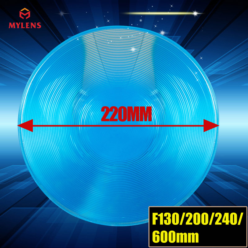 Luz de Tráfego Lente Fresnel: Diâmetro Lupa Led Fresnel 220 F130mm