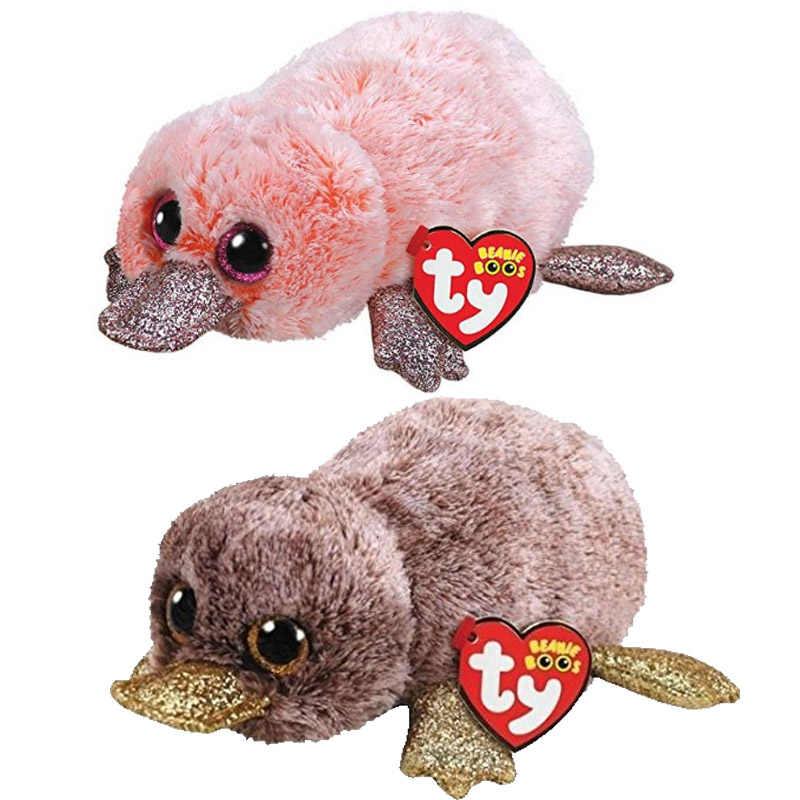Ty Vaias Gorro 6 e 15 centímetros Perry o Ornitorrinco pato dinossauro unicórnio macio Regular coleção Animal de pelúcia grandes olhos boneca de brinquedo