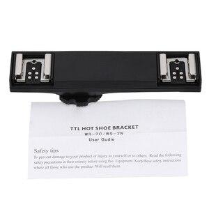 Image 5 - SUPON כפולה חמה נעל סוגר ספליטר מתאם מצלמה פלאש Speedlite עבור ניקון d3300/d90/d750/d800/d7000/d7200/d5100/d3200/d700