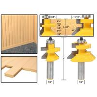 2Pcs 1 2 Shank Blade Cutter Panel Cabinet Tongue Groove Router Bits Set Milling Cutter Power