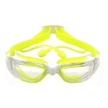 Детские плавательные очки с Соединенным ушным штекером HD анти-просачивающиеся плавательные очки для мальчиков и девочек UV400 противотуманные плавательные очки