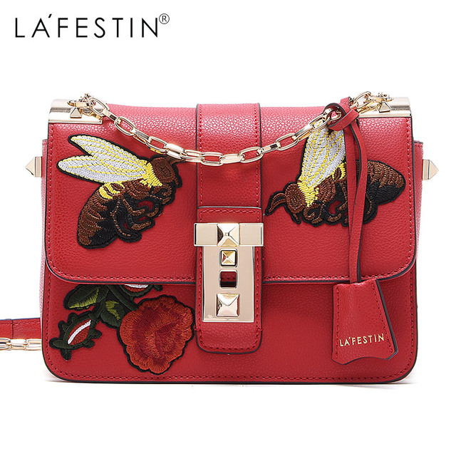 5360d4ad1918 LA FESTIN Brand Shoulder Bag 2018 New Luxury Butterfly Embroidered Handbags  Crossbody Bags Female Ladies Hand Bags Sac A Main