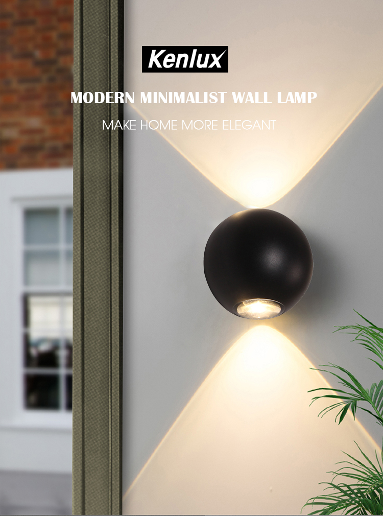 Indoor Lighting LED Wall Lamp IP65 Waterproof Indoor & Outdoor Aluminum Wall Light Surface Mounted Cube LED Garden Porch Light