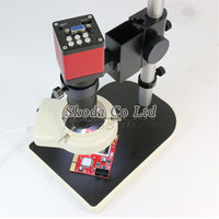 Free Shipping 2 IN 1 Digital Industrial Microscope Camera HDMI VGA Outputs 130X C Mount Lens