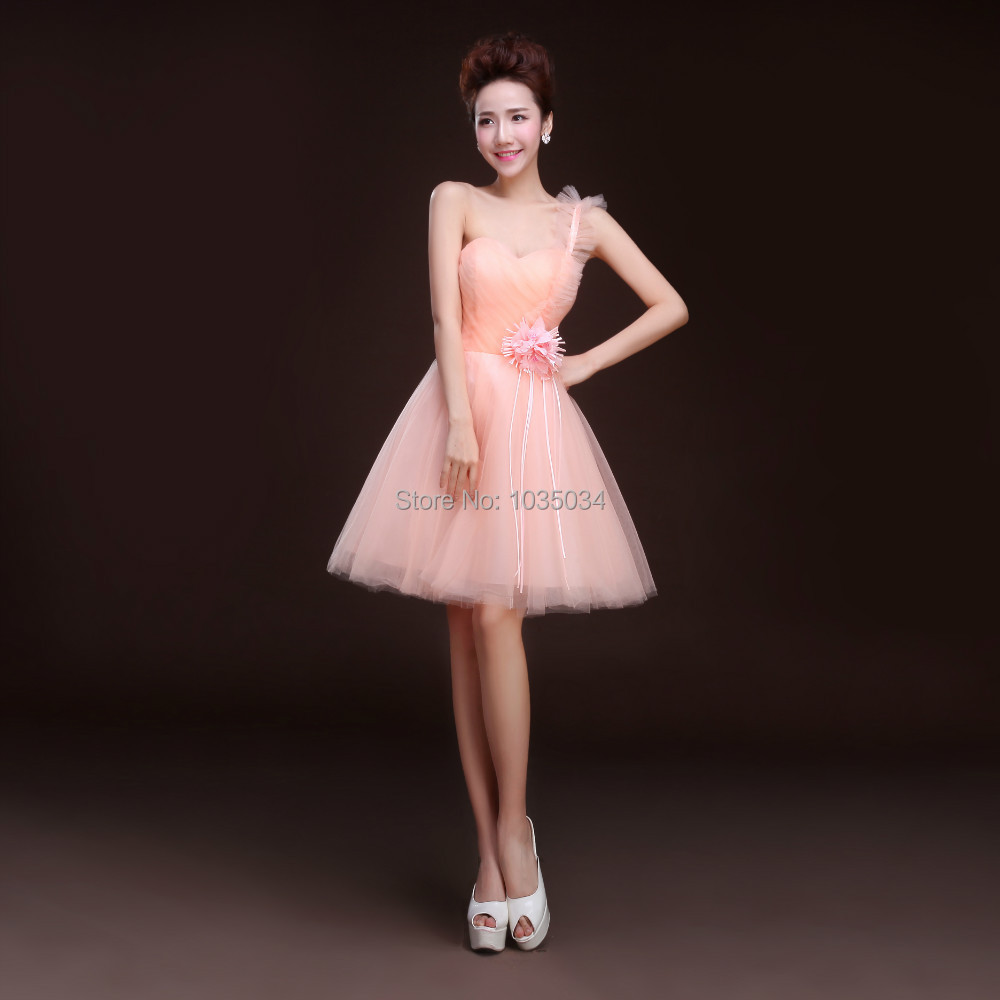 Beautiful Short   Cocktail     Dresses   One-shoulder Sweetheart Neck Lace-Up Formal Party   Dress   cheap