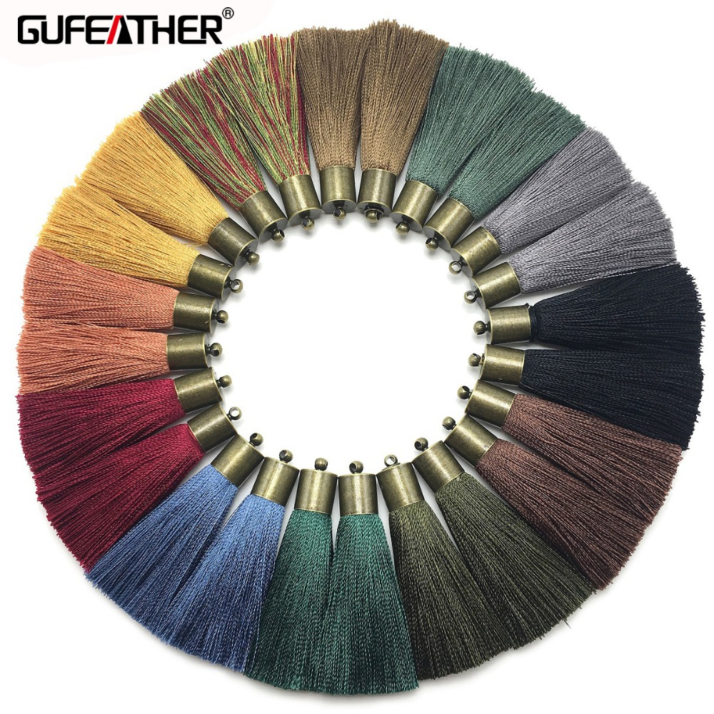 GUFEATHER L146,5cm,silk Tassels,jewelry Accessories,accessories Making,hand Made,jewelry Findings,diy Earrings,jewelry Making