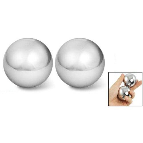 2 pcs Balle de Santé Massage des Mains Exersice Métal Méditation Le Soulagement Du Stress Massage de Remise En Forme Handball Soins de Santé Produit