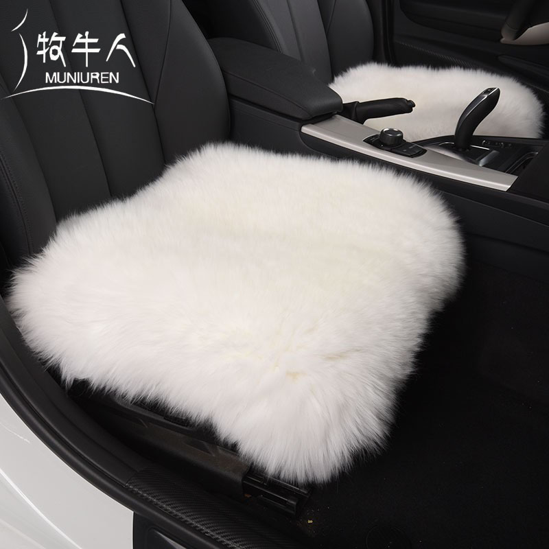 Free Shipping Pure Natural Wool Seat Cover Winter Warm Aquare Wool Chair Cushion Australia Sheepskin Fur Pad for Car Seat