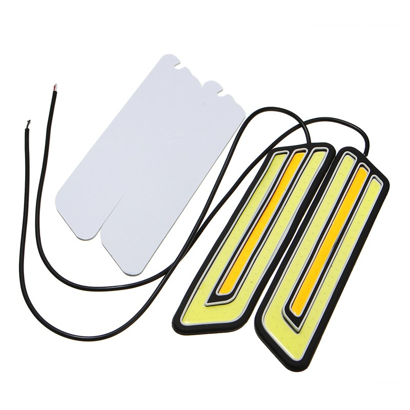2pcs/set Auto DRL Turn Signal Lights Driving Daytime Running Light Lamp Car LED Strip White DRL and Yellow Turn Signal Light multicolored led auto wheels light 2 set