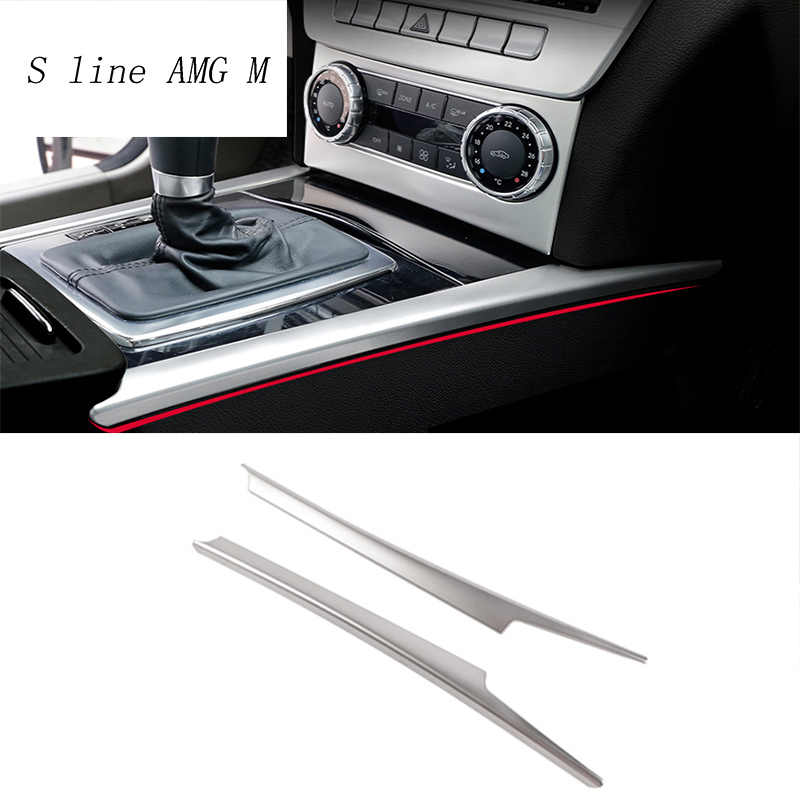 Styling auto Gear Shift pannello decorativo striscia auto copertura trim Per Mercedes Benz classe C W204 interni Auto Accessori sticker