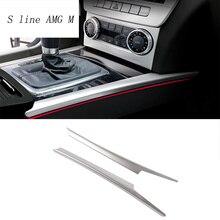 Стайлинга автомобилей Переключения Передач панели декоративные полосы авто крышка накладка Для Mercedes-Benz C class W204 Авто интерьера наклейки Аксессуары