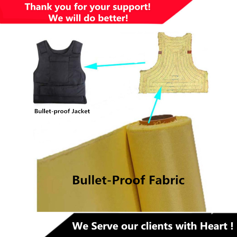 240g Aramid Fiber Cloth Plain Weave Fabric för Bulletproof Vest Bulletproof Jacket kevlar 1414