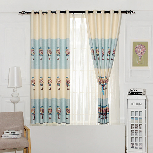 2018 New Short Window Curtains Bedroom Living Roomcurtains Printed Xustomized Tulle
