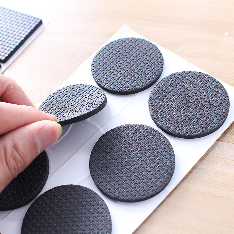 KK&FING 2 Sheet/lot Self Adhesive Furniture Leg Feet Pads Rug Felt Non-slip Pads Floor Sofa Table Chair Furniture Leg Protectors