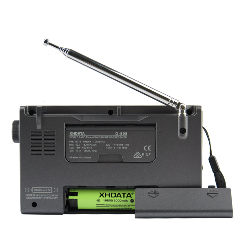 XHDATA D-808 Portable Numérique Radio FM stéréo/SW/MW/LW SSB AIR RDS Multi Bande Radio Haut-Parleur avec Écran lcd Réveil - 6