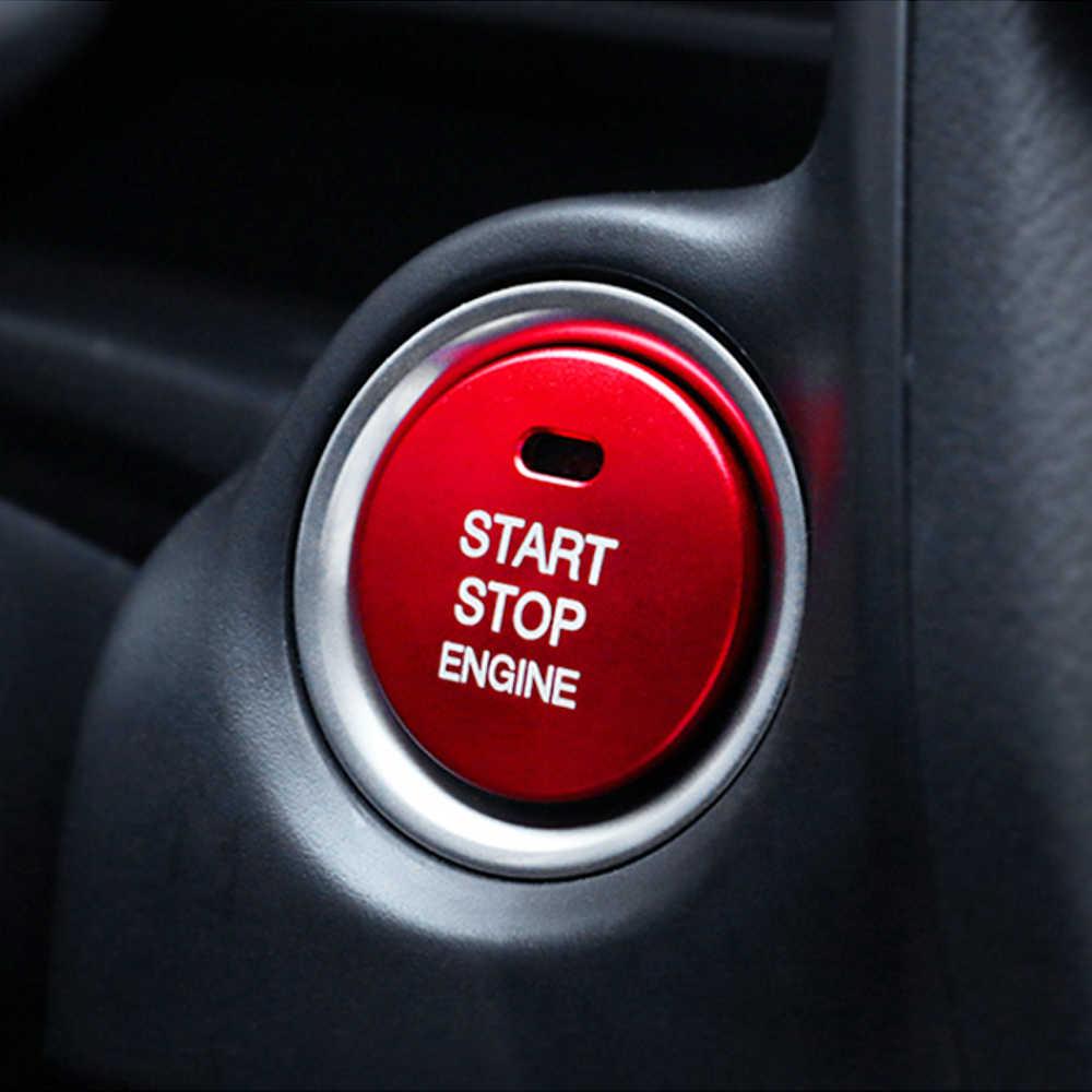 Couvercle de commutateur de système sans clé de décoration de bouton d'arrêt de démarrage de moteur pour Mazda 3 6 CX-4 CX-5 assessoires de voiture Axela ATENZA