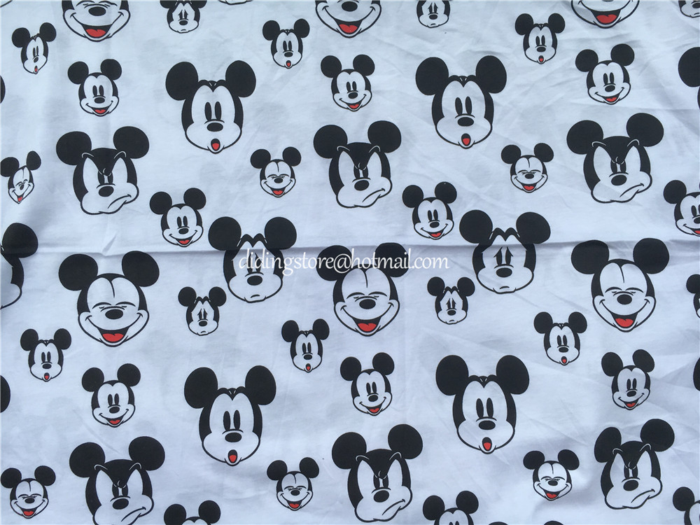 0c5d1d0f909 50x160cm Happy mickey baby soft cotton knitted fabric printed knitted  jersey bedding fabric DIY baby skirt fabric -in Fabric from Home & Garden  on ...