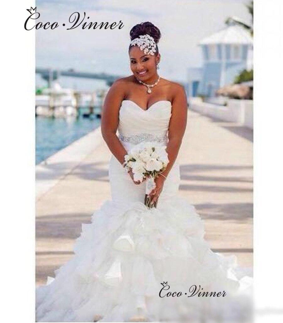 Off Shoulder Ruched Fuffles Trumpet Mermaid Wedding Dresses 2020 New Crystal Sashes Wedding Gowns Pleat Wedding Dresses W0459