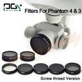 2016 НОВЫЙ Phantom PGY 4 DJI Phantom 3 Профессиональный Расширенный Объектив Камеры Фильтр ND4, ND8, ND16, MCUV,, CPL ND2-400, ND8 & CPL Filter
