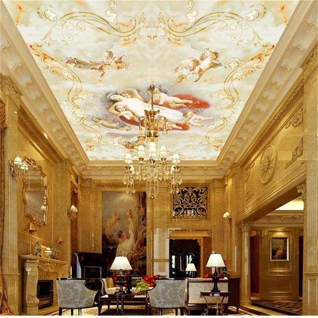 fototapete benutzerdefinierte gr e decke wohnzimmer wandbild engel liebe marmor 3d malerei. Black Bedroom Furniture Sets. Home Design Ideas