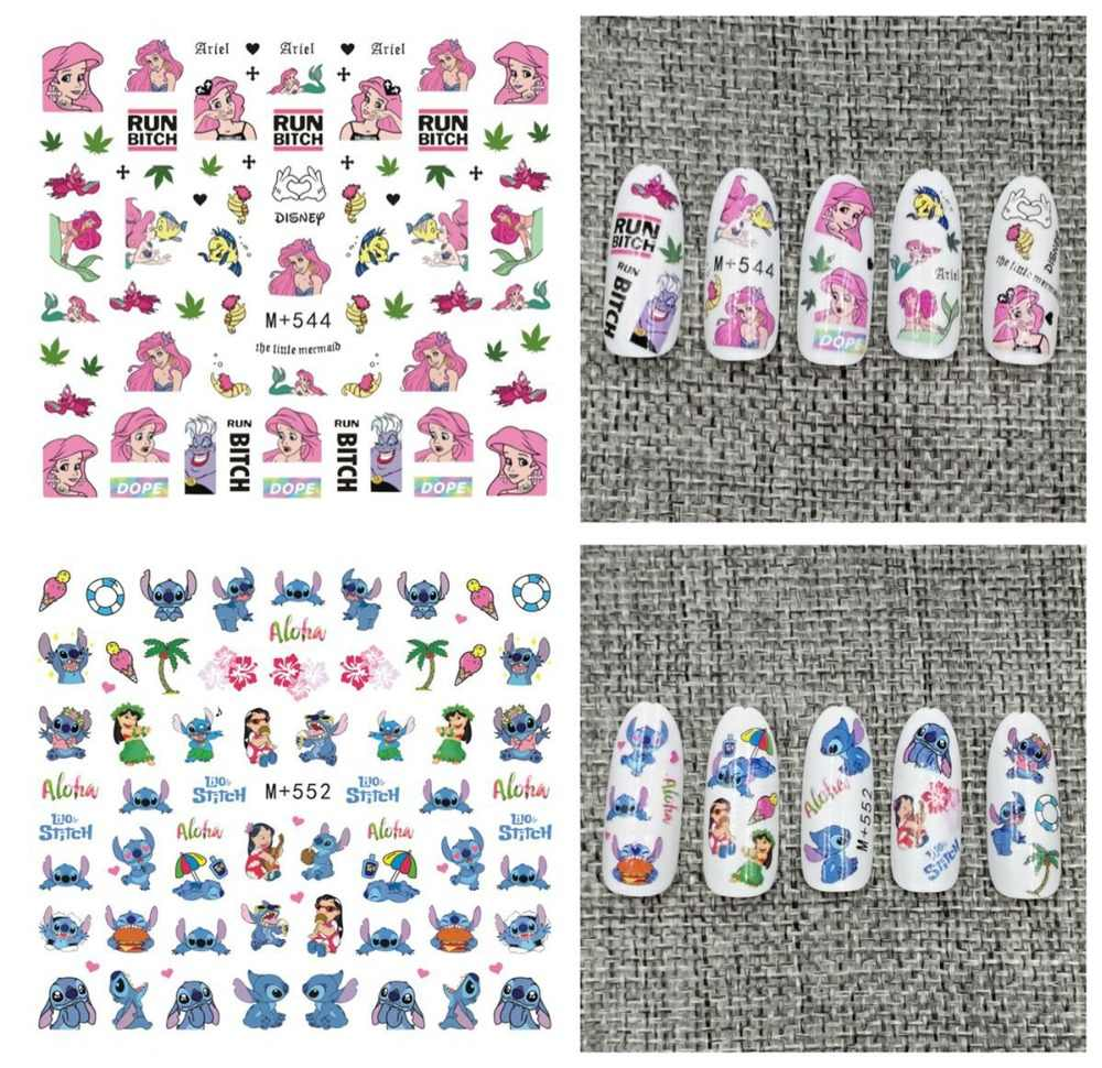 fashion 5sheets Children Girls facial cute expression Cartoons Stickers Designs Gummed glue Stickers Decals Makep M+538-579