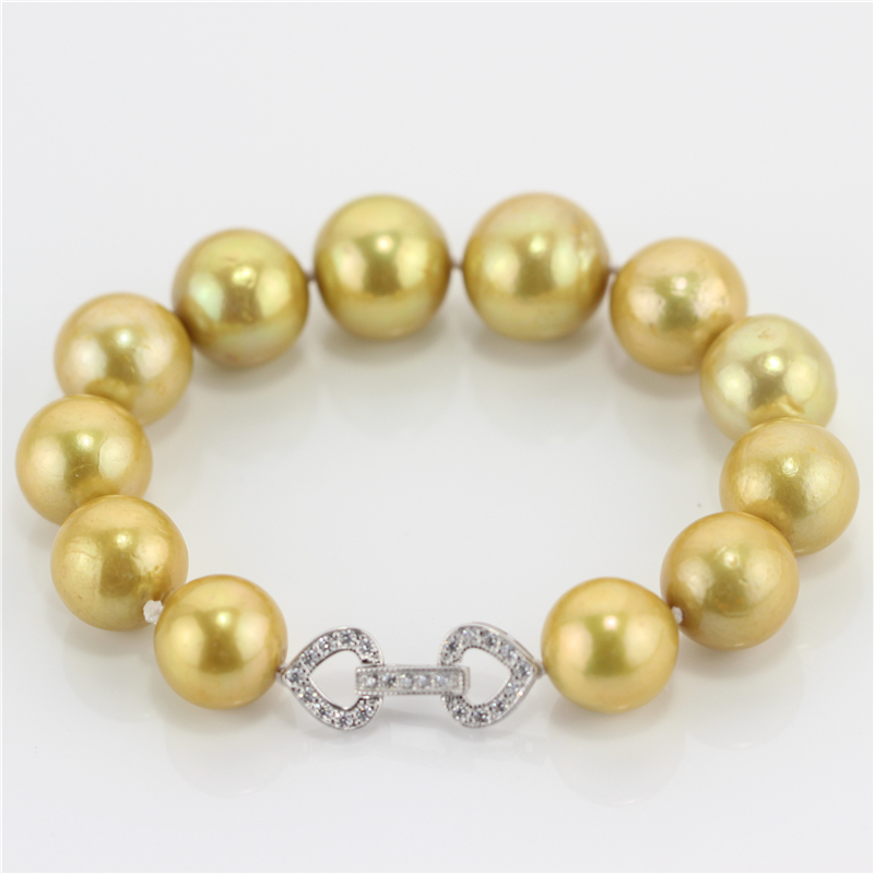 SNH 925 sterling silver clasp real genuine cultured natural 10-13mm AA+ edison freshwater gold bracelet pearl jewelry designSNH 925 sterling silver clasp real genuine cultured natural 10-13mm AA+ edison freshwater gold bracelet pearl jewelry design