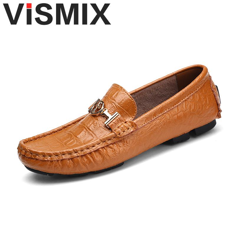VISMIX Mens Casual Shoes Fashion Peas Shoes Leather Men Loafers Moccasins Slip On Mens Flats Male Driving Shoes Plus Size 49 50 mens leather loafers new 2017 casual flat shoes men driving moccasins fashion slip on mens working flats sapatos