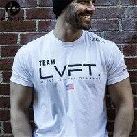 Mens Brand Gyms T Shirt Fitness Bodybuilding Crossfit Slim Fit Cotton Shirts Short Sleeve Men Fashion