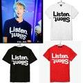 Kpop Bangtan Boys альбом концерт рэп монстр же Мужская летняя с коротким рукавом Футболки k-pop BTS Официальный Же T рубашка Топы футболка
