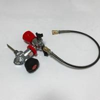 Safety High Pressure PCP air gun Cylinder GAUGE VALVE for hunting+FILLING STATION