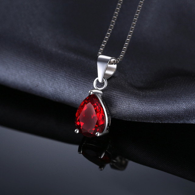 Water Drop Garnet Necklace
