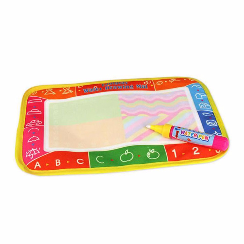 Hot! 25*16.5cm Kids Baby Write Draw Paint Water Magic Doodle Mat Children Play Mat With Magic Pen Painting Christmas Gift New