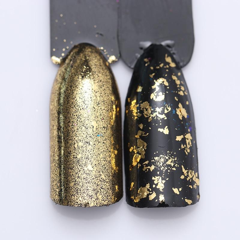 Colorful Irregular Gold Silver Nail Sequins Glitter Paillettes Nail Flakes Powder Glitters Nailart Nail Dipping UV Gel Polish
