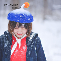 03bebe0178c1f Faramita Holiday Cyclone Little Ball Blue Wool Sherlock Holmes Steampunk Hat  Women Men Bohemia Hand Made