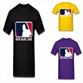 La Impresión del verano Masculino Negan Major League Camiseta Zombie Walking 100% Ropa Casual O Cuello de Algodón de Manga Corta Camiseta de la Marca camisas