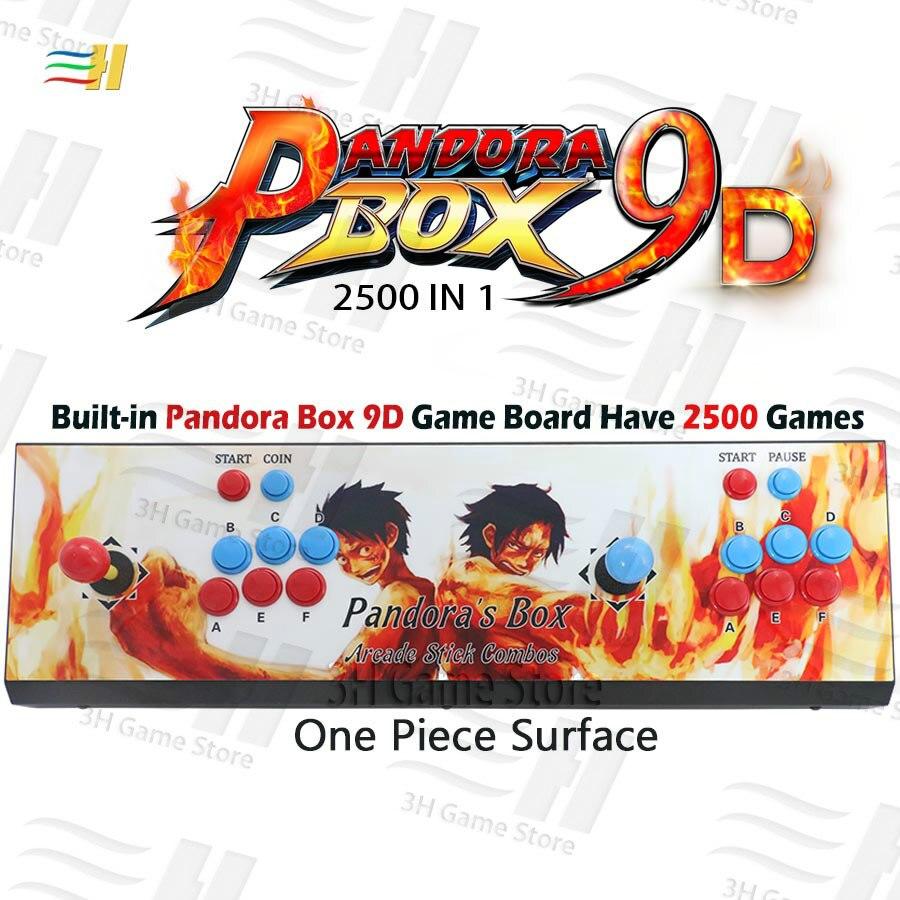 Pandora box 9d 2500 in 1 arcade game console HDMI VGA output full HD  support 3d tekken games usb can connect gamepad 3P 4P game