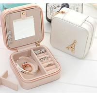 Jewelry Packaging Box Casket Box For Exquisite Makeup Case Cosmetics Beauty Organizer Container Boxes Graduation Birthday